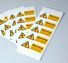 Warning More Than One Point of Isolation Labels  (80 x 35mm) Pack of 25