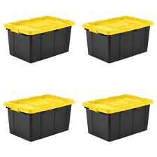 Sterilite 27 Gal. Industrial Tote Yellow Lily Set of 4