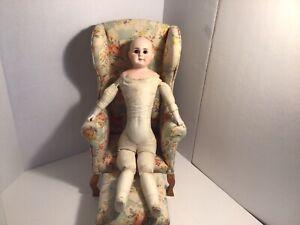 Lovely Belton Bisque Shoulder Head Doll - Incised 8.
