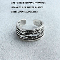 New Women Fashion Jewelry 925 Silver Plated Open Adjustable Ring Toe Finger