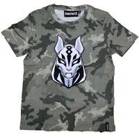 Boys Kids Children Fortnite Grey 100%Cotton Gaming T Shirt Top t-shirt Age10-16