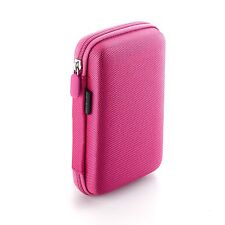 Drive Logic DL-64 Portable EVA Hard Drive Carrying Case Pouch (Pink)