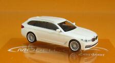 Herpa 420389 BMW 5er Touring G31 alpinweiß Scale 1 87
