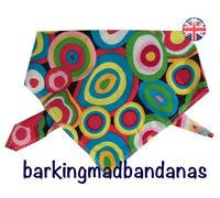 Handmade Dog Bandana Dog Bandanas, Retro Pattern, Neckerchief Tie Style UK