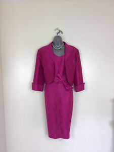 🌸Zeila Size 50 Size 20 Cerise Pink Mother Of Bride Groom Outfit & Fascinator 🌸