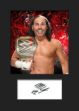 MATT HARDY #2 (WWE) Signed (Reprint) Photo A5 Mounted Print - FREE DELIVERY