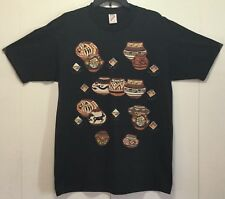 VTG 90s Jerzees 50/50 Heavyweight Mens L Embellished T Shirt Indian Pottery USA