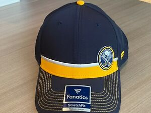 Buffalo Sabres Fanatics Iconic Streak Speed Stretch Fitted Hat Adult M/L