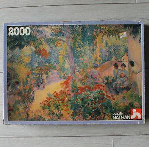 Nathan Puzzle 2000 Pièces H. Cross Après Midi Au Jardin