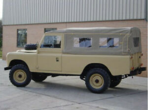 """Land Rover Series 109"""" Full Hood WSW Sand Canvas by Exmoor"""