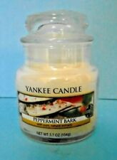 Yankee Candle Peppermint Bark 3.7 Oz Small Jar Candle Food & Spice Collection