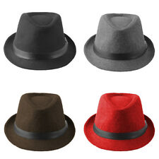 Kids Children Boys Girls Fedora Hats Trilby Caps Jazz Sunhat Sunbonnet Panama XS