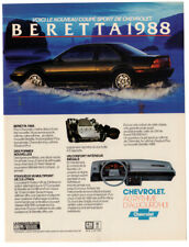 1988 CHEVROLET Beretta Coupe Sport Vintage Original Print AD Black car photo CA