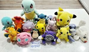 Pikachu I Choose You - 2004 Pokemon Electronic + 15 Vintage Pokemon Plush Dolls!