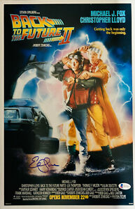 Elisabeth Shue Signed 11x17 Back to the Future Part II Photo Beckett Witness COA