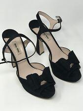 Miu Miu Calzature Donna womens sandals  , Black ,size 39,5 US 9