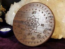 """Chakra / Zodiac Pendulum Board - Walnut - 6"""""""
