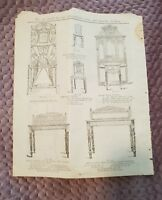 Hall Stands, Tables & Chairs - Tye & Co. Catalogue Page - c.1900