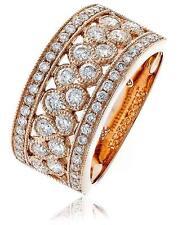 Diamond Half Eternity Wedding Ring 1.00ct Brilliant Cut F VS in 18ct Rose Gold