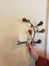 Leaf Candle Wall Sconces Pair