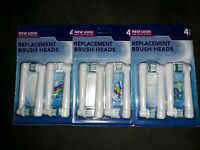 NEW Lot of 3 Packs Precision Clean Replacement Brush Heads for Oral B ~ 12 Heads