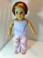 """Doll Clothes 18"""" Pajamas Pink Lavender Ballet Fits American Girl Dolls"""