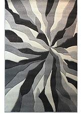 Spectrum Splinted Hand Carved Rug, Grey - 80 x 150 cm