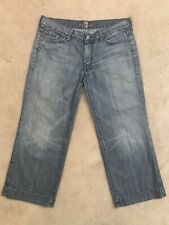7 For All Mankind Size 32 Dojo Medium Wash Capri Jeans