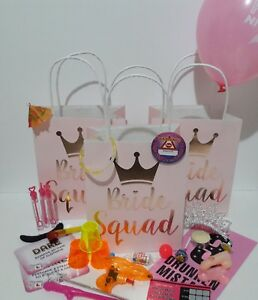 **BRIDE SQUAD**FILLED Hen bags**Choose 8 items!*Pink*FREE GIFT WITH 10+BAGS**