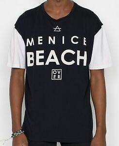 Over Cooked Menice Mens TShirt White and Black Cotton