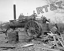 Historical Photograph of a Tractor Splitting Shingles 1936  8x10