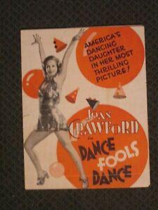 Dance Fools Dance - Original 1931  Movie Herald - Joan Crawford