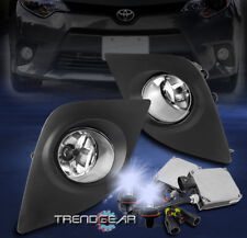 FOR 2014 2015 2016 TOYOTA COROLLA BUMPER CHROME FOG LIGHT LAMP W/8000K HID+BEZEL