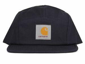 Carhartt Wip Backley Cap Navy Blue Strapback Cotton Canvas Baseball Hat