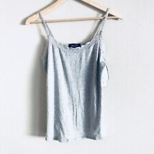 Rene Rofe Sleep wear Intimates lace cami tank Style 504951 Medium Gray
