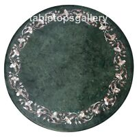 """24"""" Marble Coffee Table Top Mother of Pearl Floral Inlay Dining Room Decors B105"""
