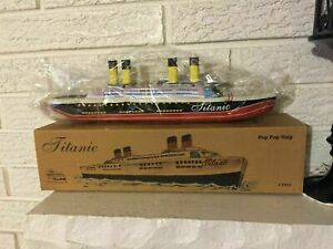 TITANIC TIN Litho TOY Steam Pop Pop BOAT Ship Replica toy Not for Children