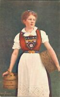 Norway - Norwegian Girl - Traditional Clothing 02.16