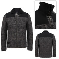 Dissident Men's Universal Zip Up Wool Blend Cardigan Knitted Jacket Top Thick