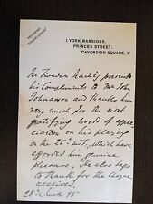 TIVADAR NACHEZ - HUNGARIAN VIOLINIST AND COMPOSER - 1 PAGE HAND WRITTEN LETTER
