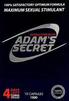 Adams Secret Male Enhancement Pills Men Sexual Performance Enhancer 1500 10Pill