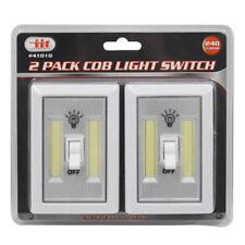 2 PCS COB LED Night Light Wall Switch Wireless Battery Operated Closet Cordless