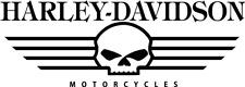 2 x Harley Davidson Skull  Viele Farben Größe 20 cm x 7cm ANSEHEN