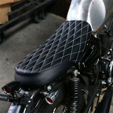 White Line Retro Cafe Racer Saddle Seat For Suzuki GS550 750 Kawasaki KZ650 400