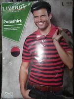 Herren Poloshirt * L 52/54 * Rot * Livergy Casual * Pikee-Qualität *Neu*OVP