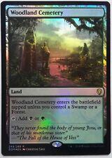 1x FOIL Woodland Cemetery Near Mint Magic card rare land standard Dominaria x1