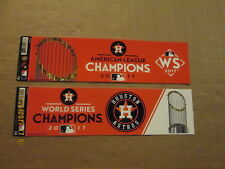 MLB Houston Astros 2017 AL & World Series Champions Baseball Bumper Stickers