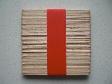 Standard size wooden natural lollypop sticks lolly pop plain pack of 50