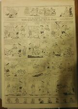 Tom Sawyer and Huck Finn Sunday by Clare Dwigs from 8/5/1923 Full Page B&W
