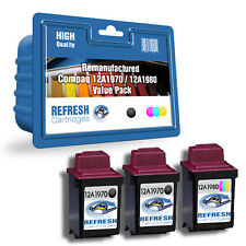 REFRESH CARTRIDGES VALUE PACK 12A1970 / 12A1980 INK COMPATIBLE WITH COMPAQ PRINT
